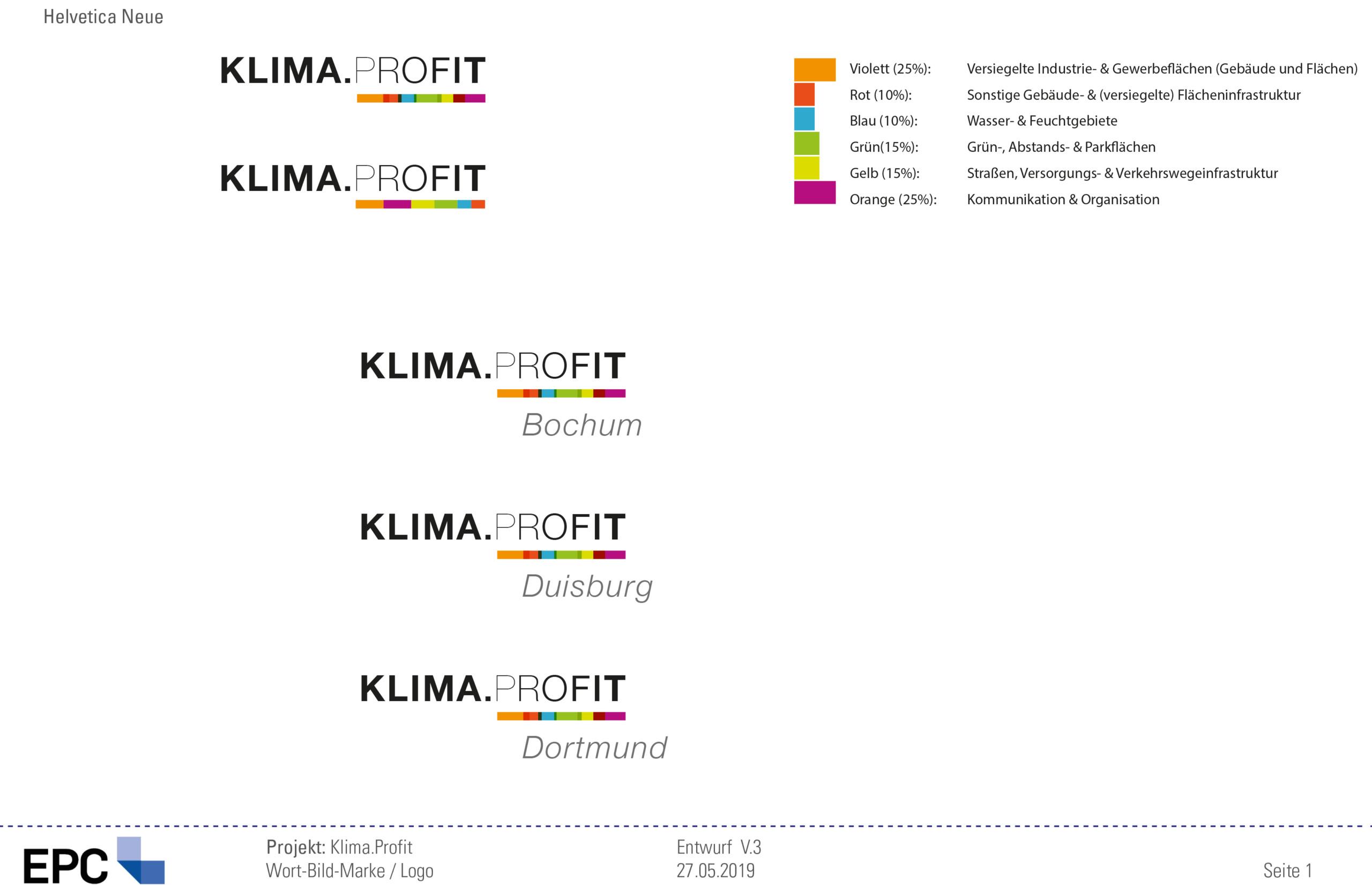 Klima.Profit Logo Farbklima Entwurf
